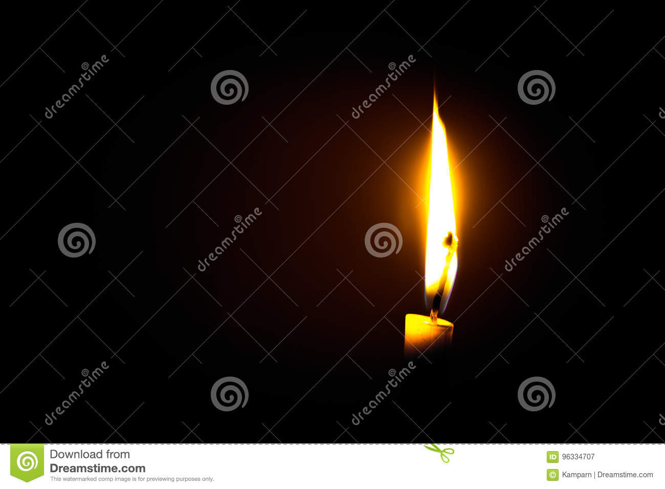 Download Candle flame stock image. Image of effect, decoration - 96334707