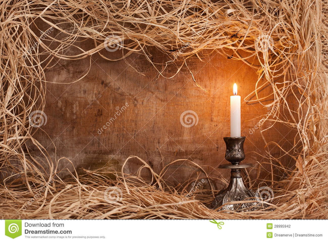 Perfect Candle frame stock photo. Image of grass, copyspace, horizontal  YI56