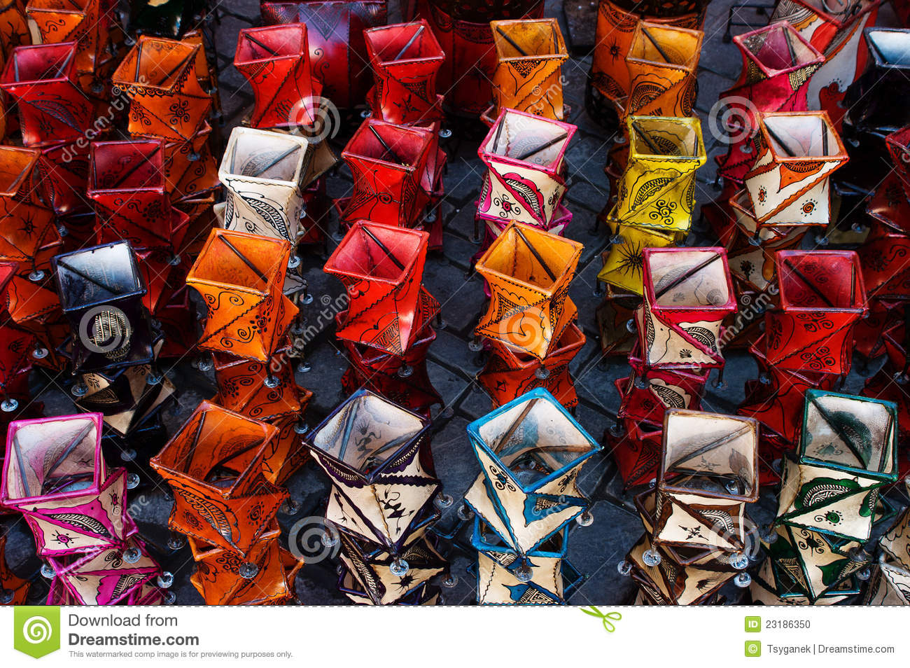Candle Holders On Market In Marrakesh Stock Photo - Image of