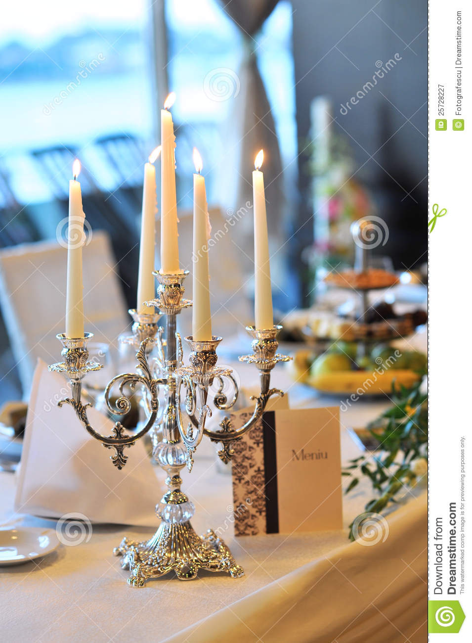 Superior Candle Holders On A Wedding Table