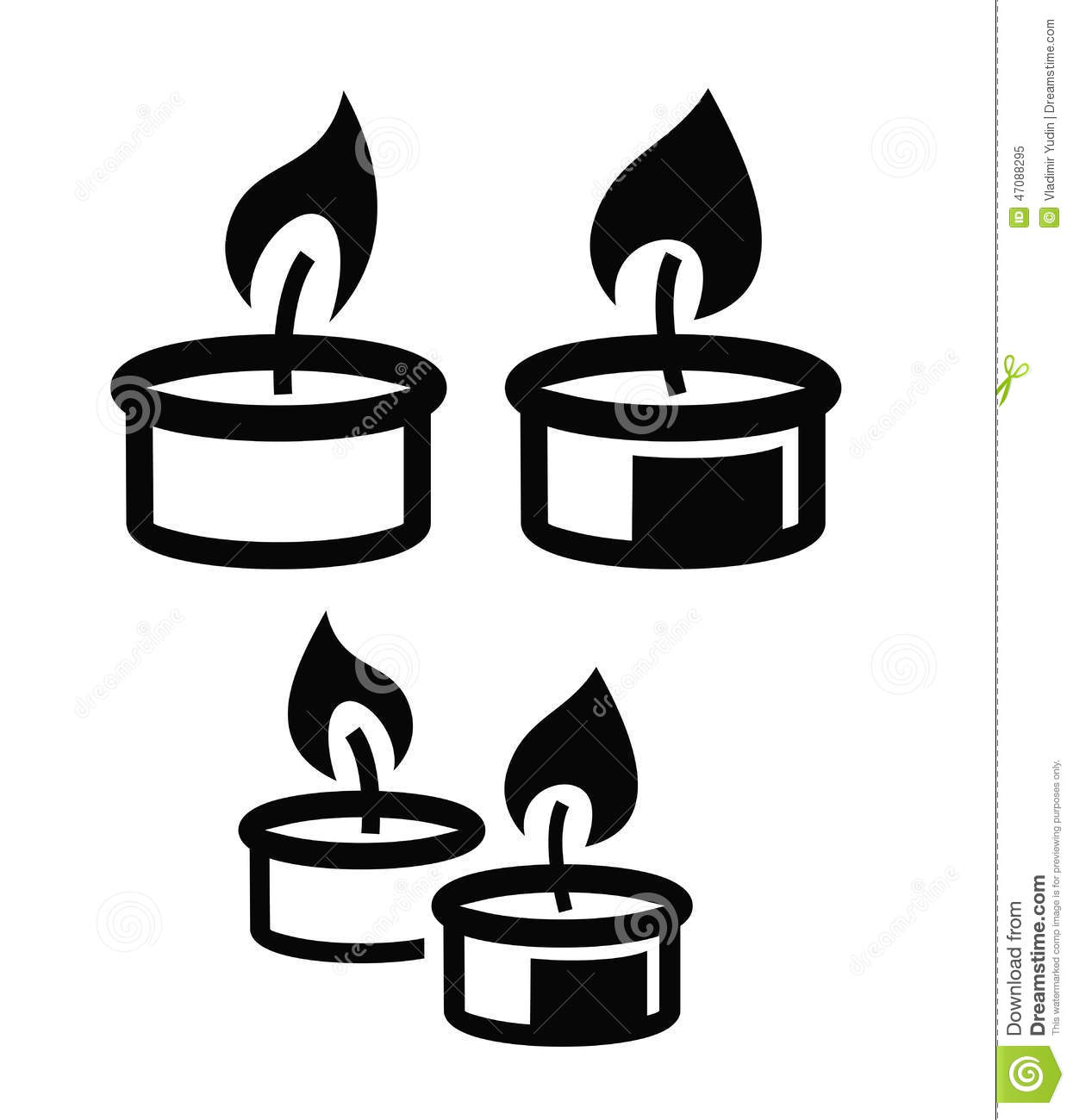 Candle Icon Stock Vector - Image: 47088295