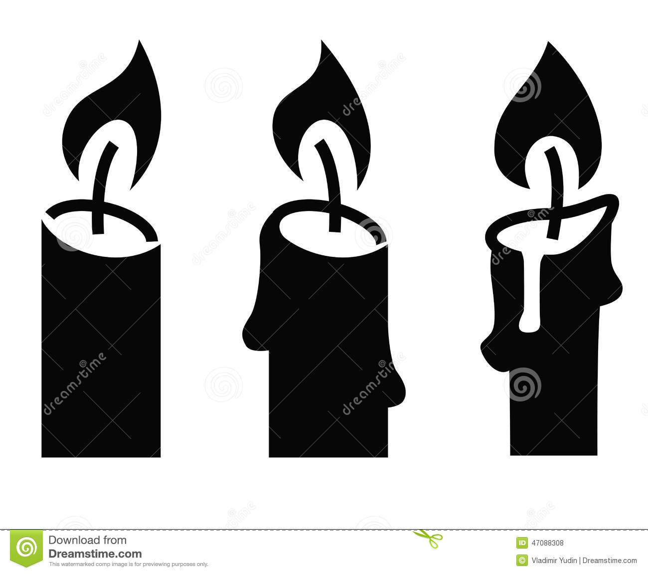 Candle Icon Stock Vector - Image: 47088308