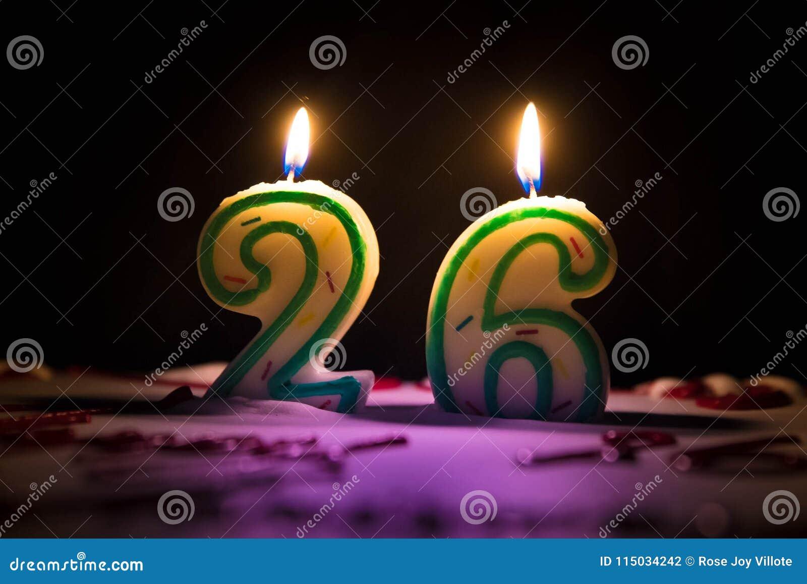 Candle Number 26 Twenty Six Stock Photo Image Of Message Save