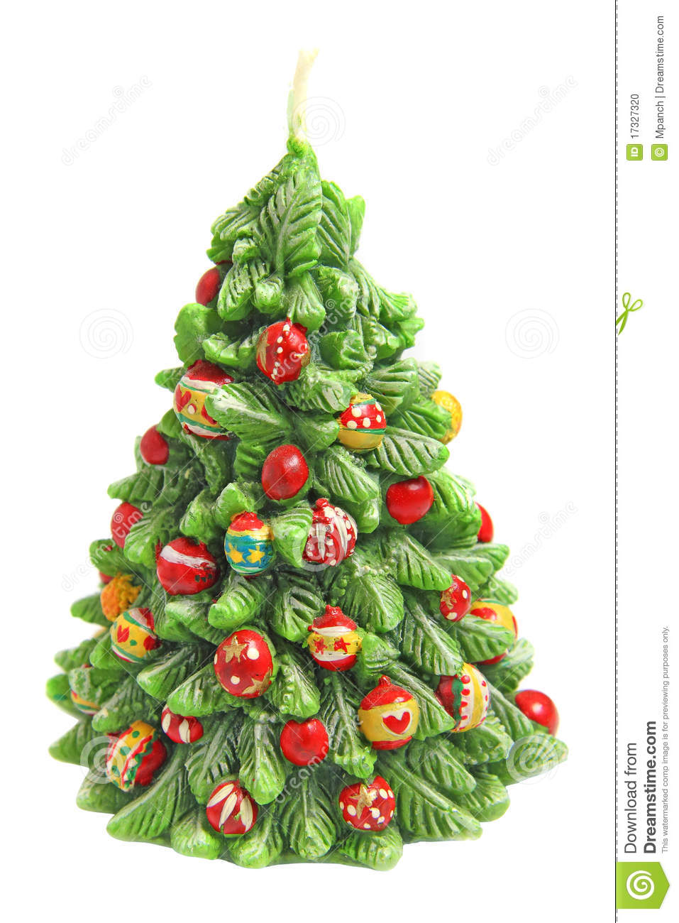 Candle In Shape Of Christmas Tree Stock Photo - Image ...