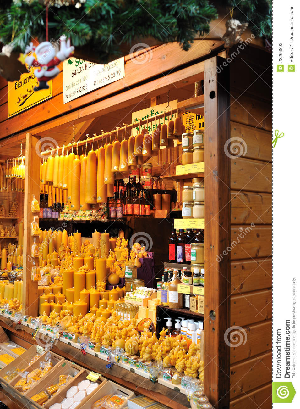 Candle Shop In Christmas Market Editorial Photography ...
