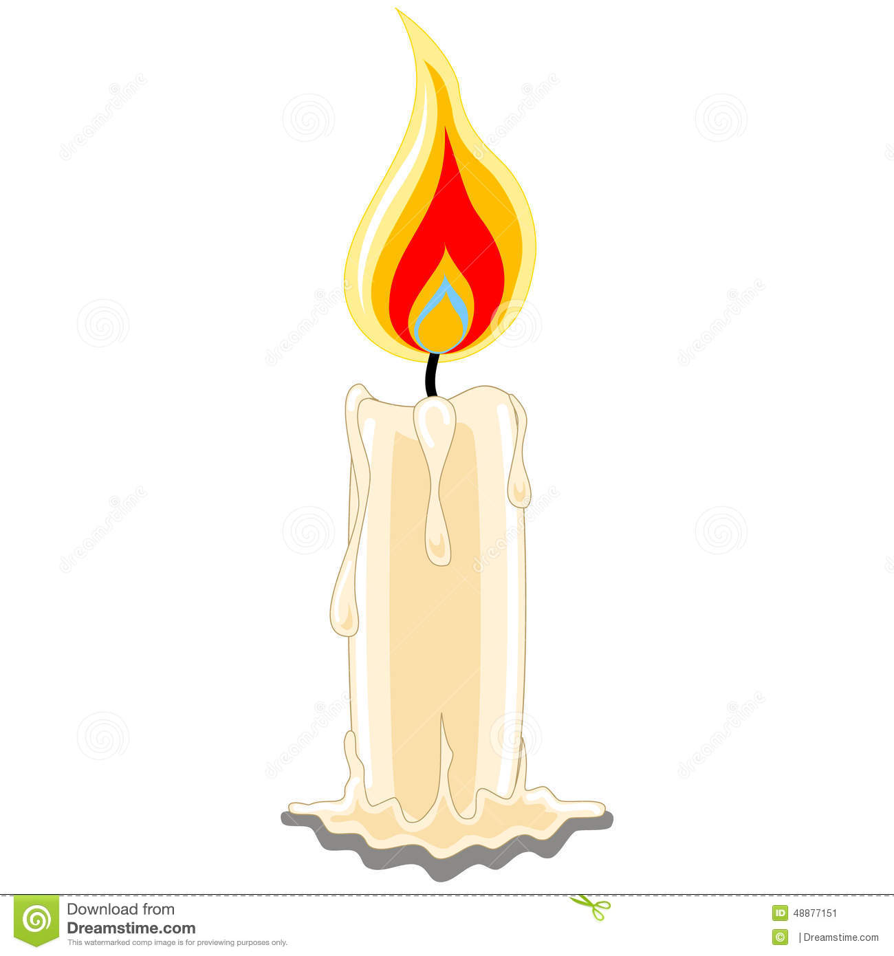 Candle Single Stock Vector - Image: 48877151