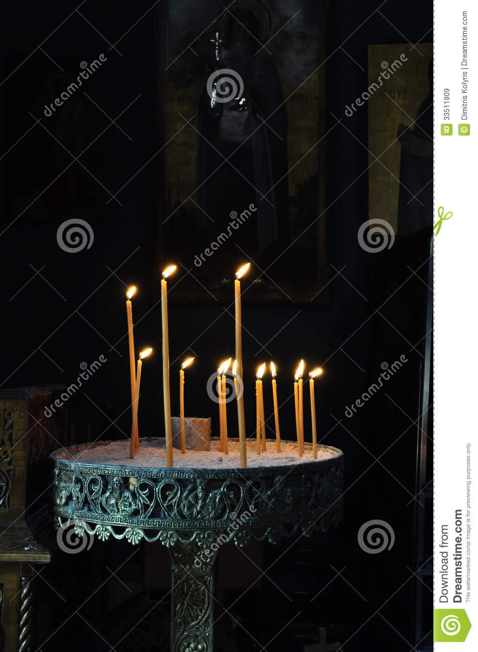 Candle Stand In Orthodox Church Stock Image Image 33511809
