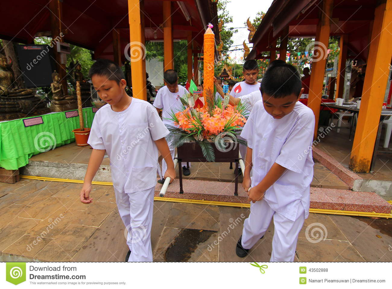 Candle tradition Buddhism in thailand