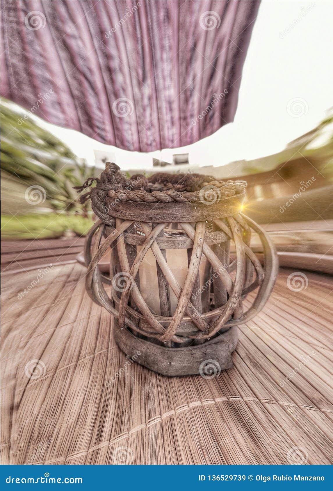 Candleholder in the garden