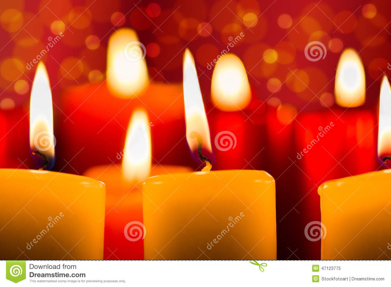 festive candlelight in warm colors