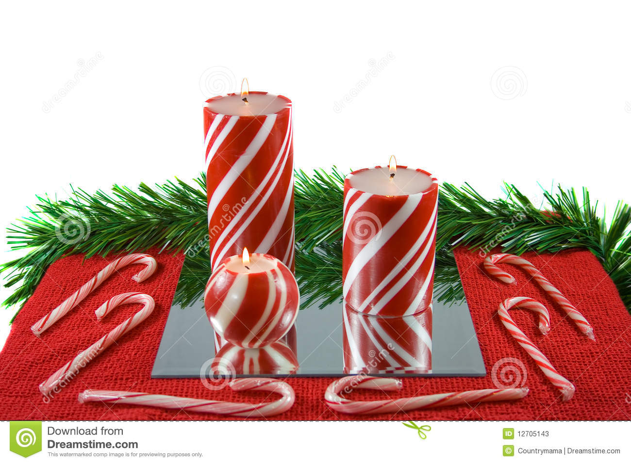 three striped candy canes