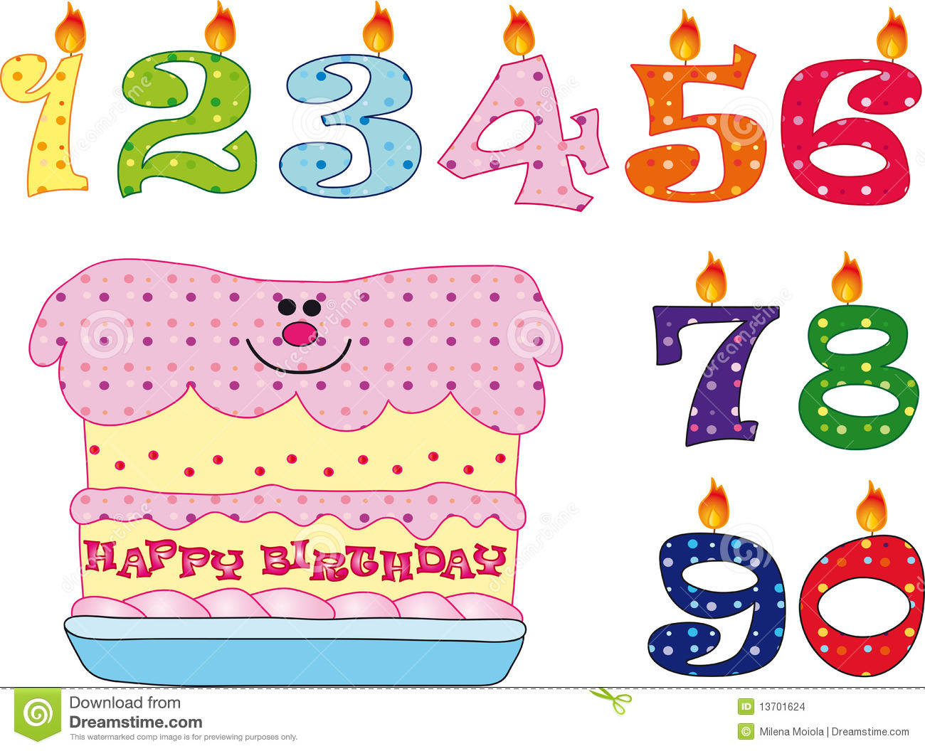 clipart birthday numbers - photo #48