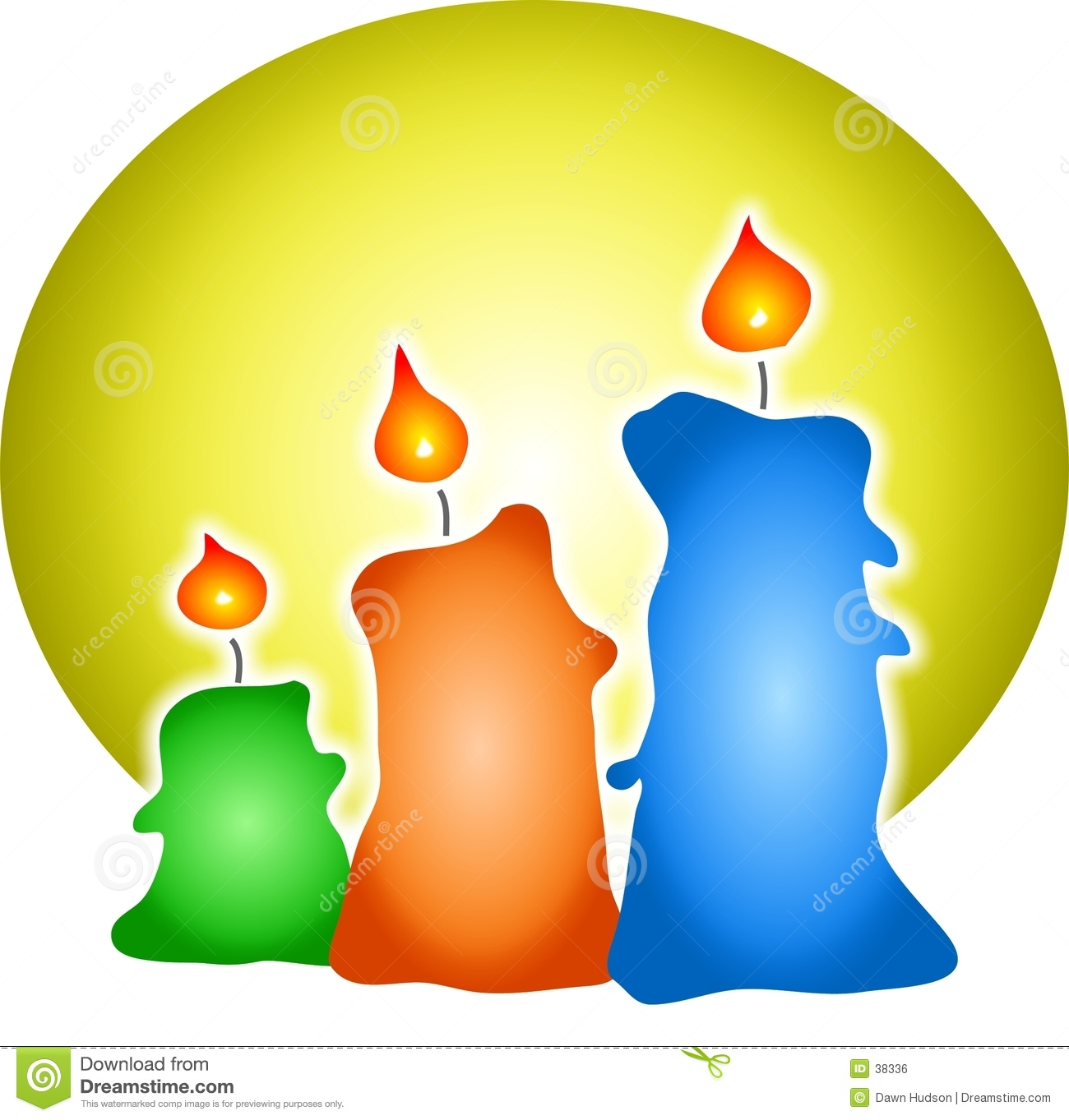 Candles coloured
