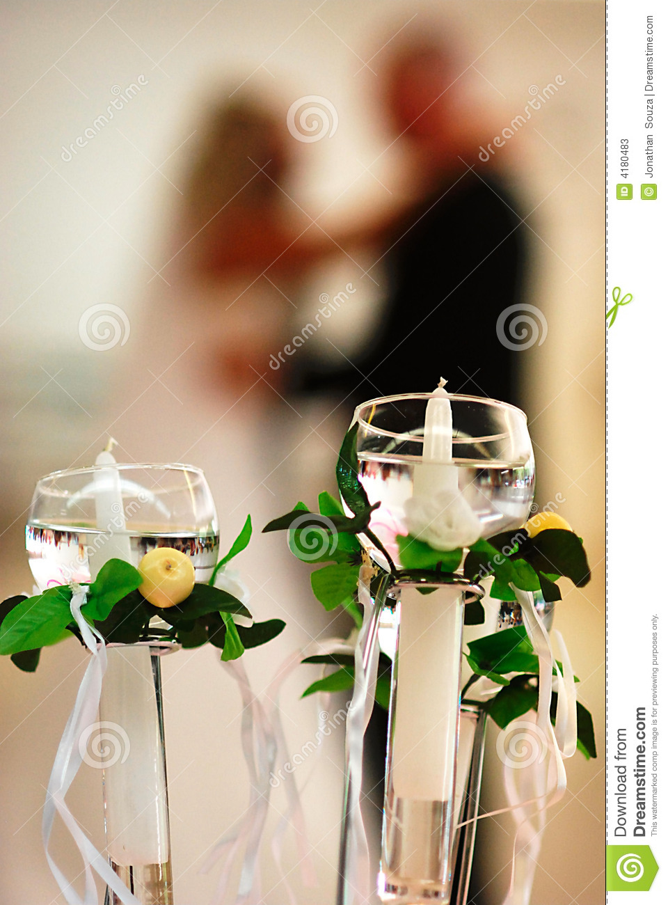 Candles and couple