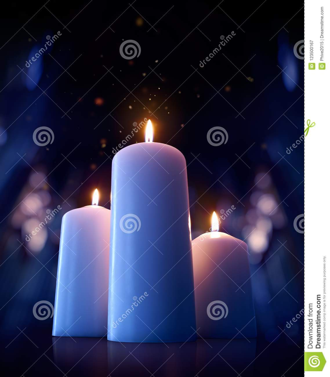 Candles On The Floor Of A Cathedral Stock Image - Image of