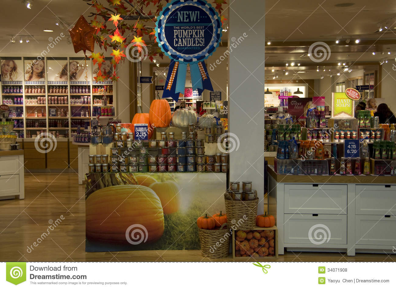 Candles Halloween Decorations Store Editorial Stock Photo - At Home Store Halloween Decorations