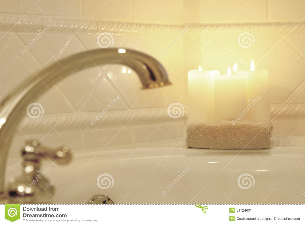 Download Candles Lit In A Blurred Romantic Bath. Stock Image - Image of interior, calm: 51724631