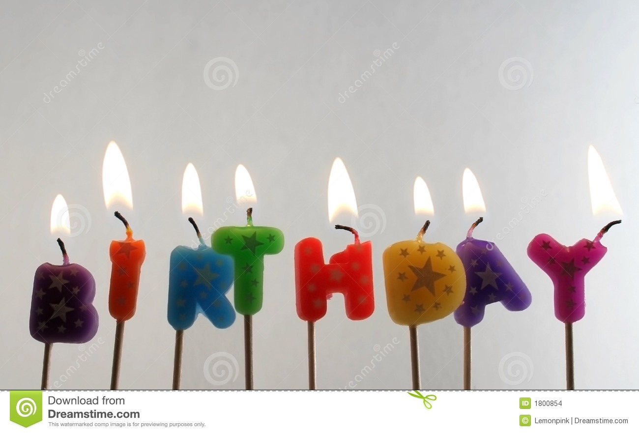 Candles Making The Word Birthday Stock Photo Image 1800854
