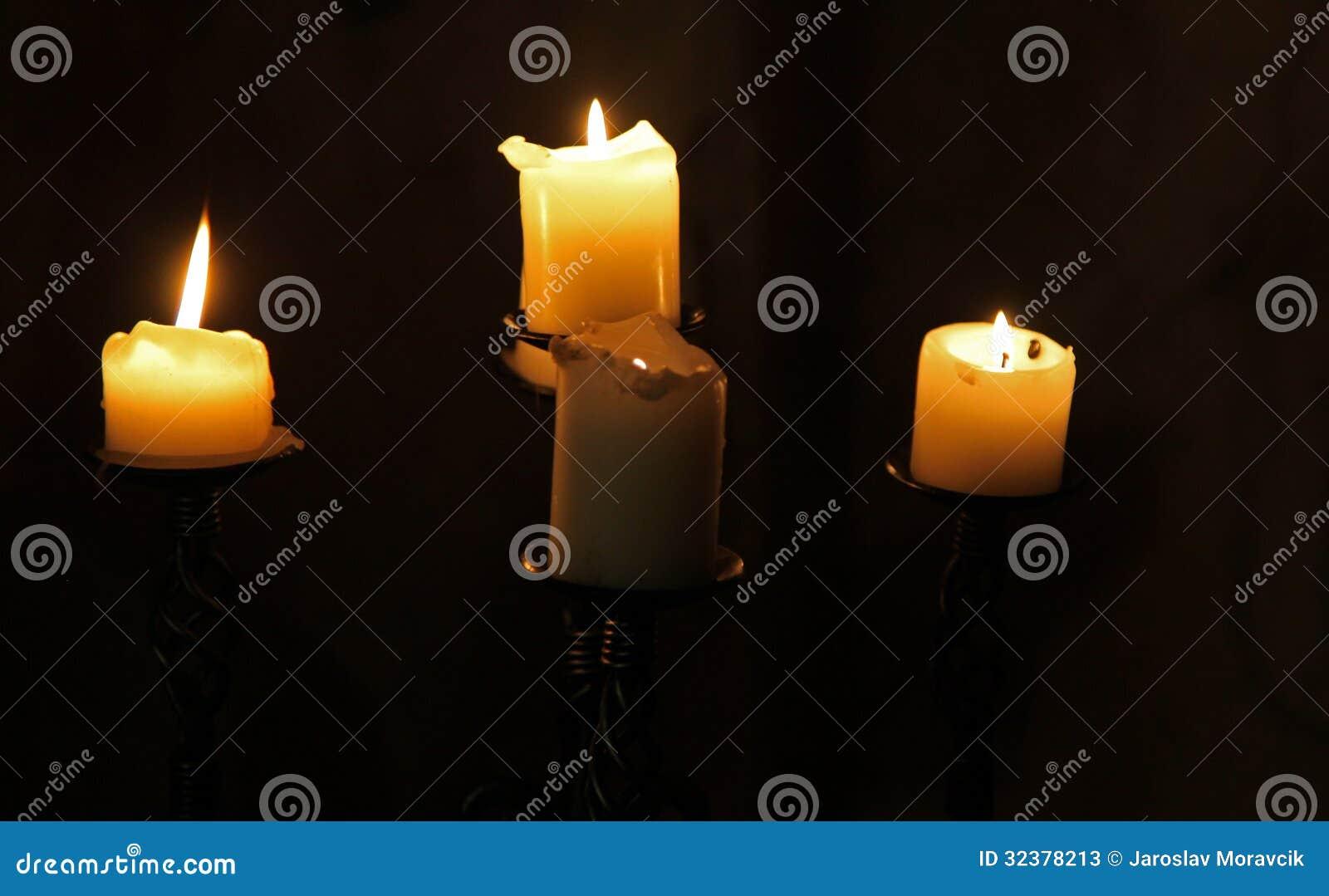 Candles at Oravsky hrad - Orava castle, Slovakia