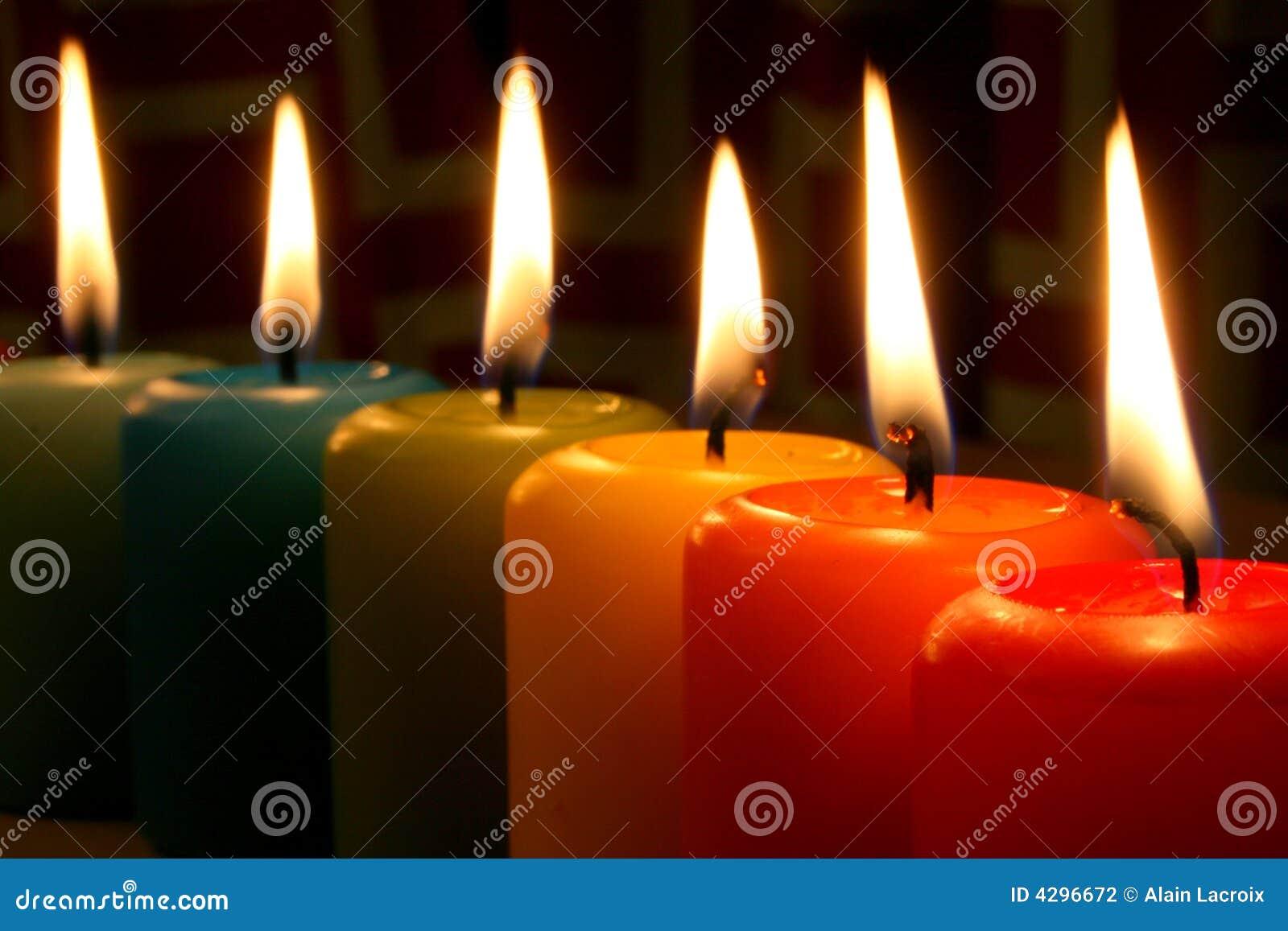 Candles rainbow