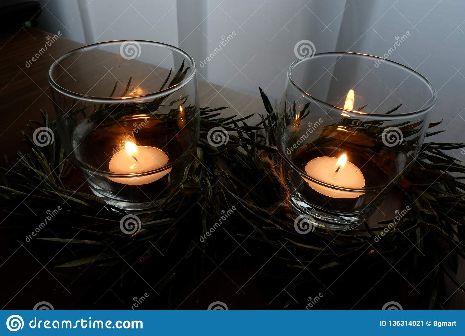 Candles for a warm illumination