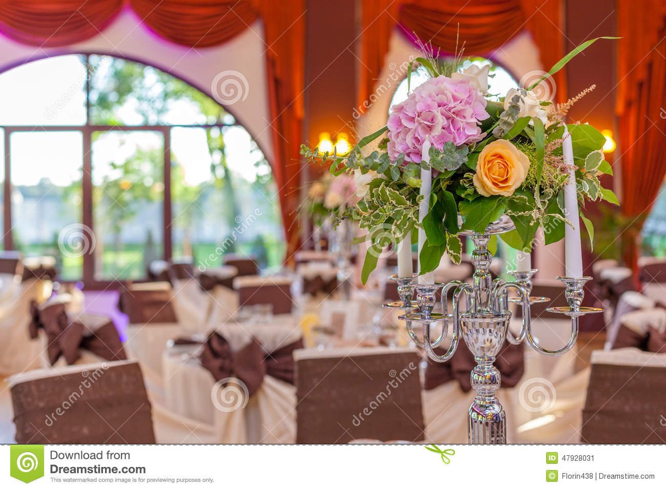 Candlestick Hall Arrangements Stock Image Image Of Small