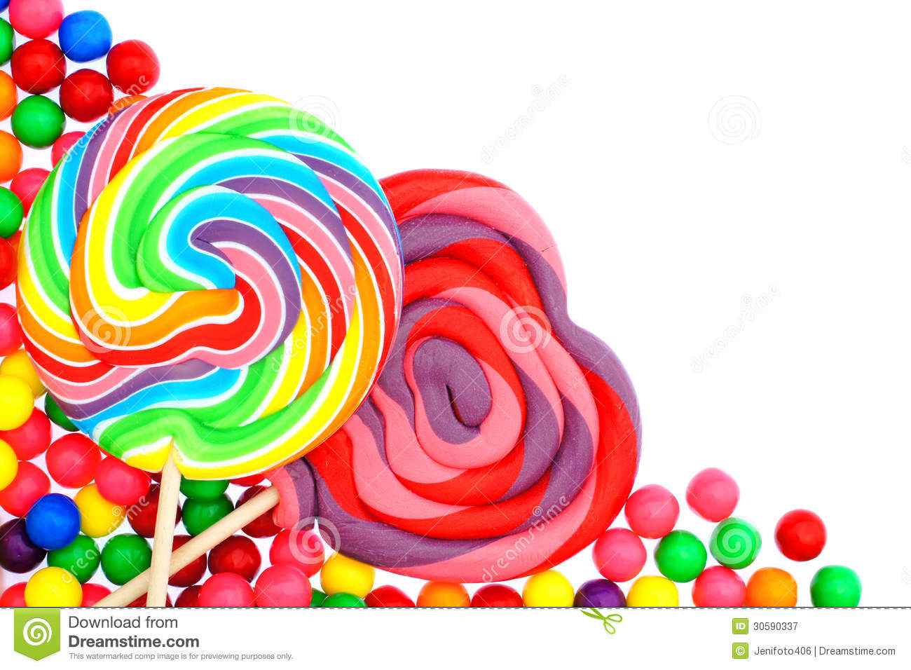 Candy Border Royalty Free Stock Photography - Image: 30590337