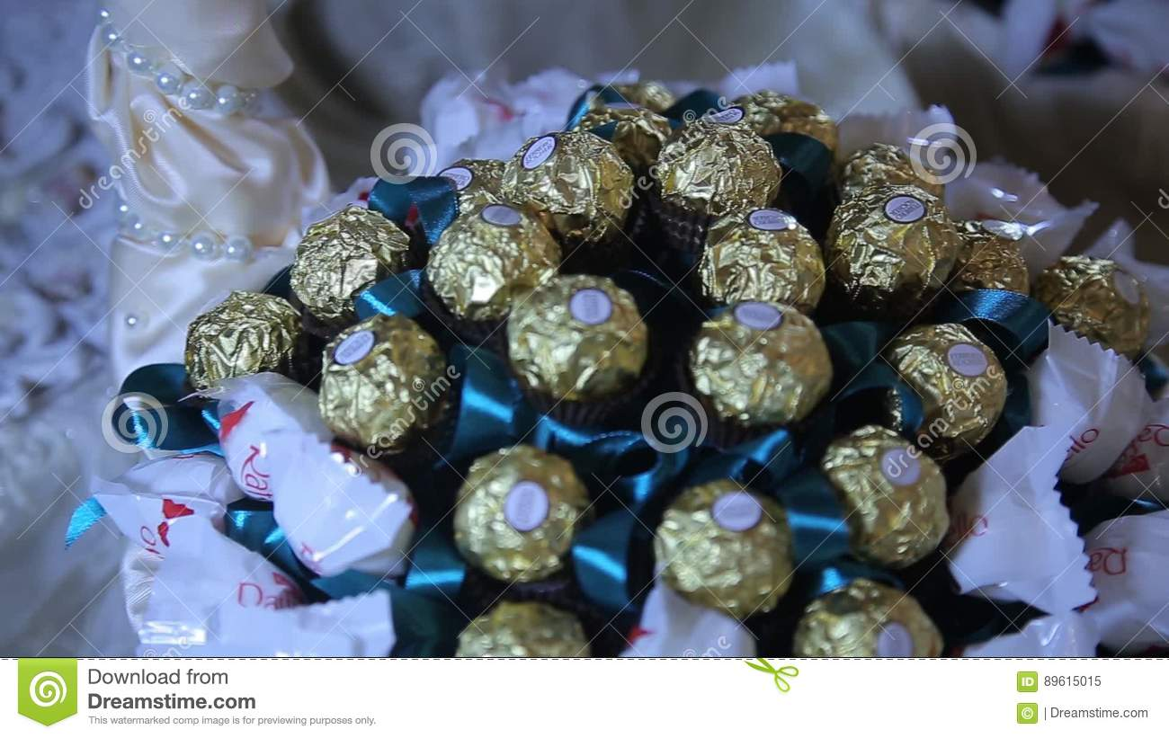 Candy Bouquet Made Of Ferrero Rocher And Raffaello Amazing Candy
