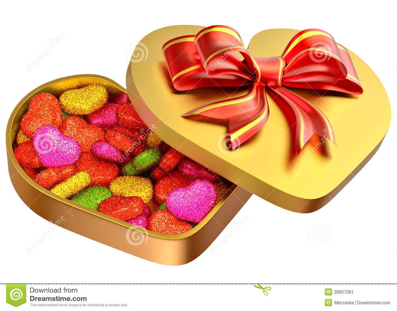 Candy In A Box As A Gift For Valentine S Day Stock Image Image Of