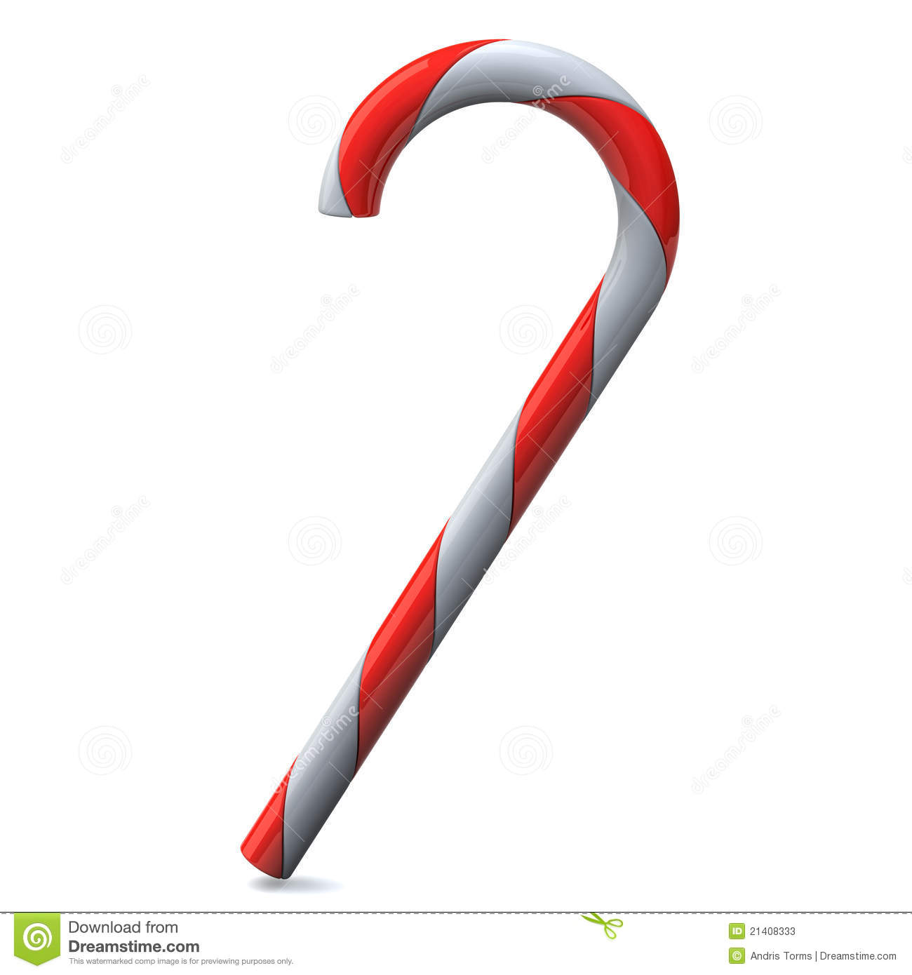 Candy Cane 3d Stock Photos