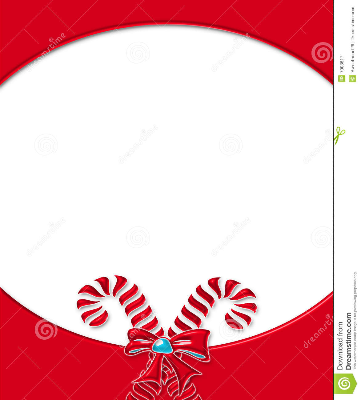 Candy Cane Card Frame 3 Royalty Free Stock Photography - Image ...