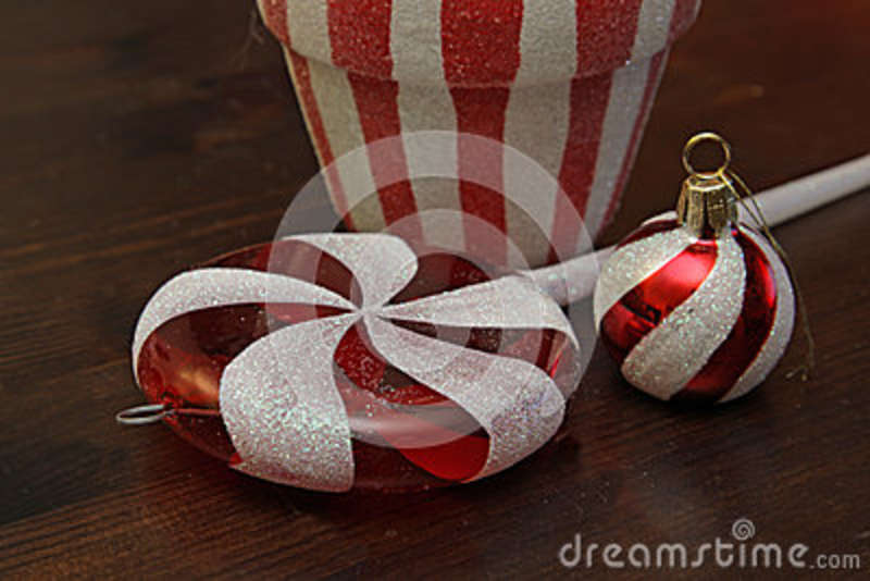 Candy Cane Christmas Decorations Stock Photo Image Of Three