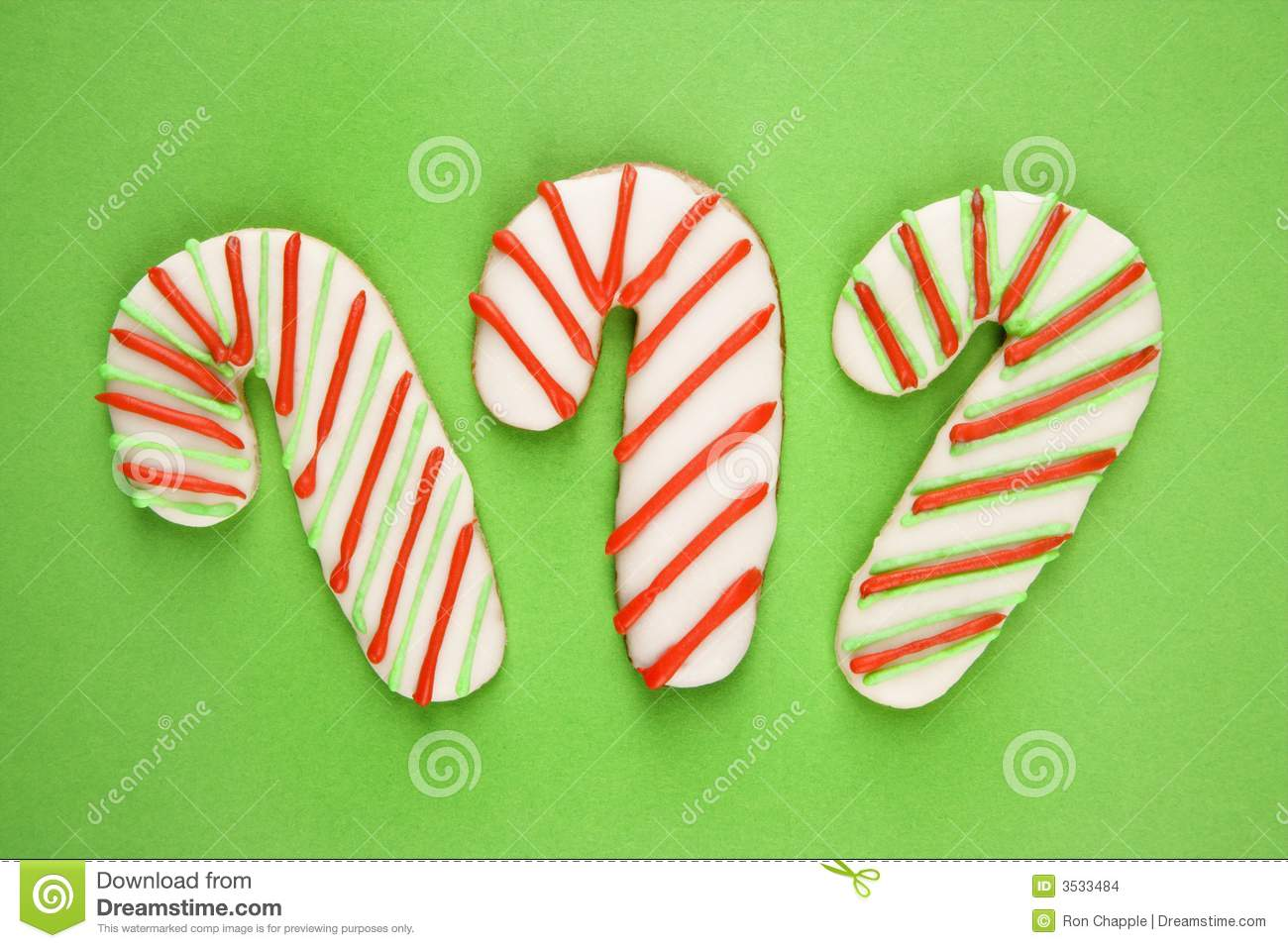 Candy Cane Cookies Stock Photo Image Of Studio Small 3533484