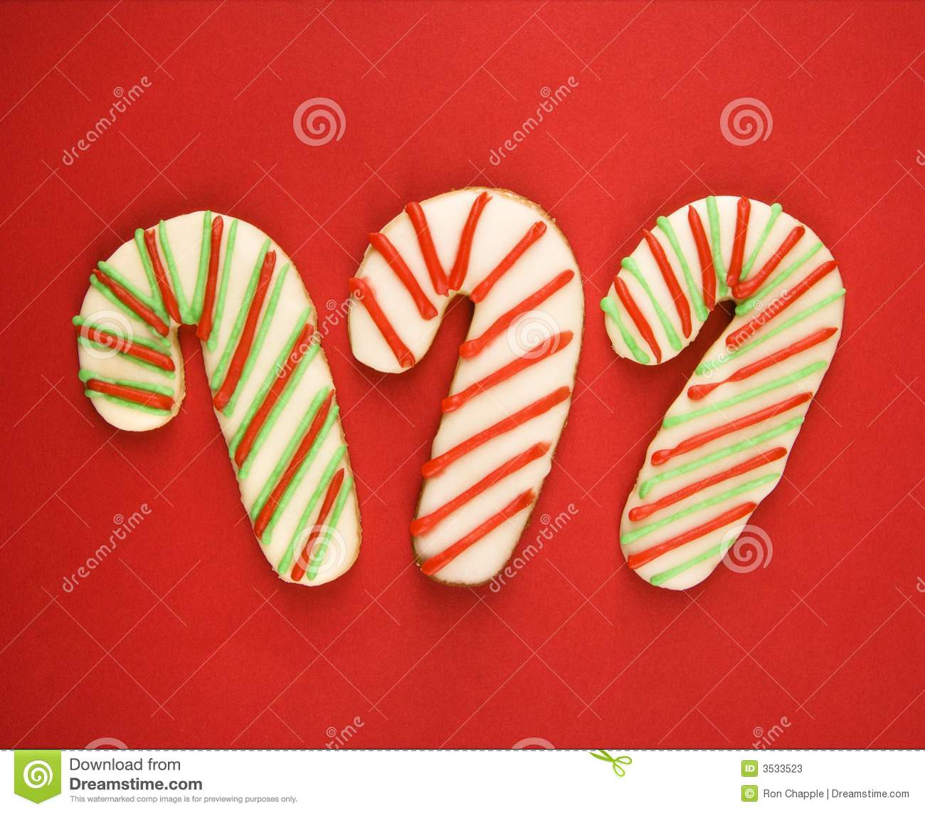 Candy Cane Cookies Stock Image Image Of Cookie Shot 3533523