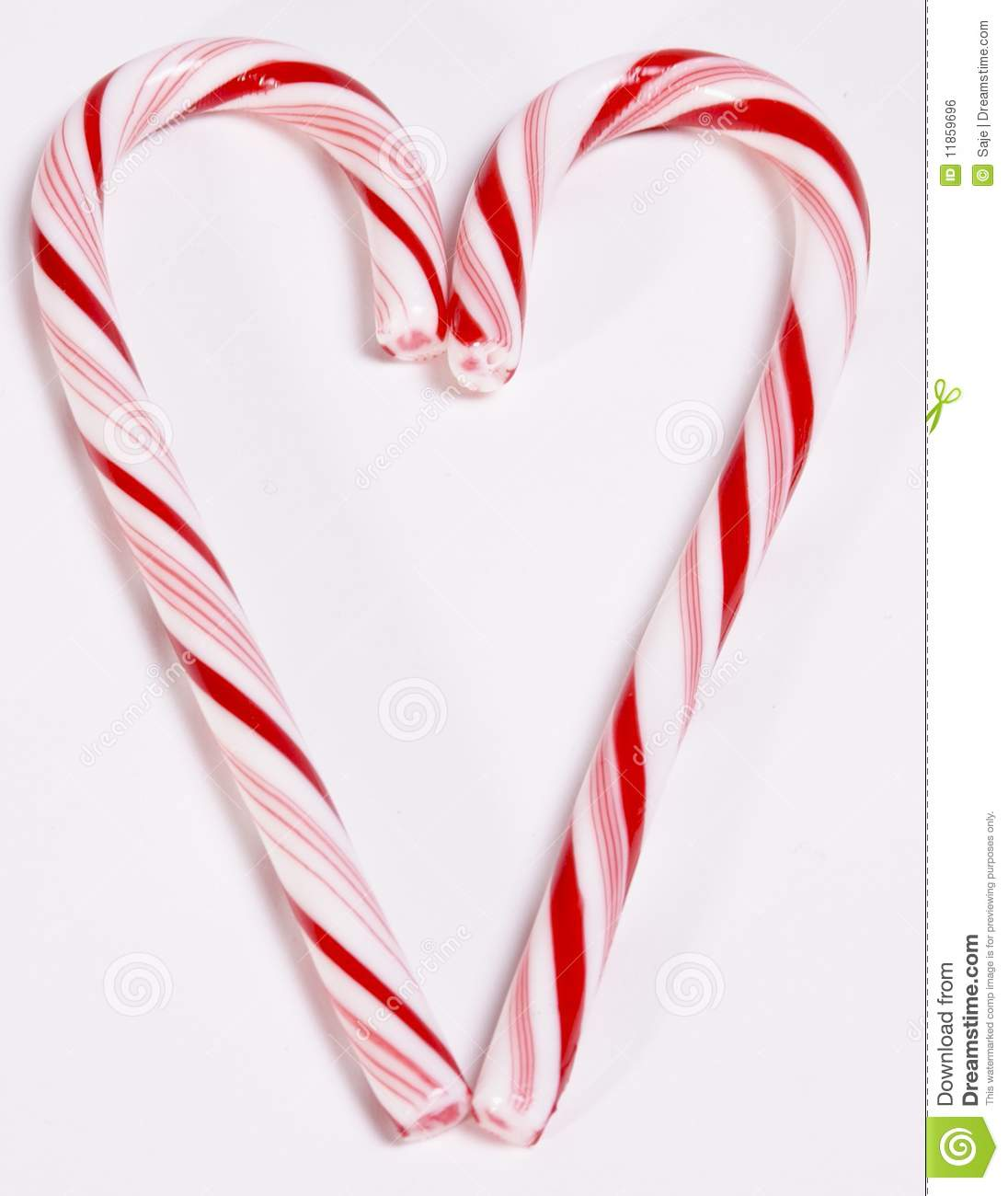 Candy cane heart stock photo image of holiday affection