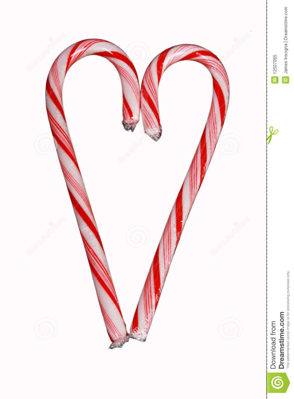 Candy cane heart isolated on white stock image