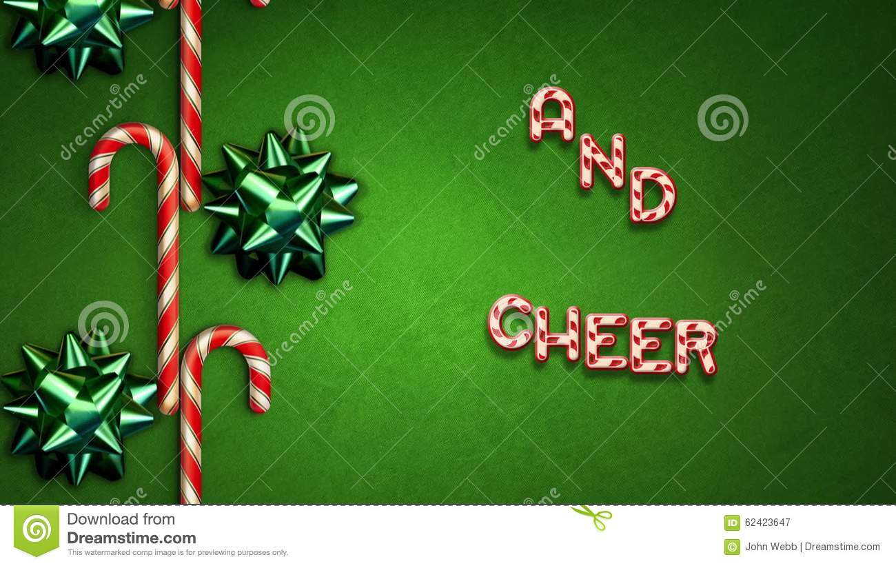 Candy Cane Holiday Greetings Text Loop Stock Video Video Of Family