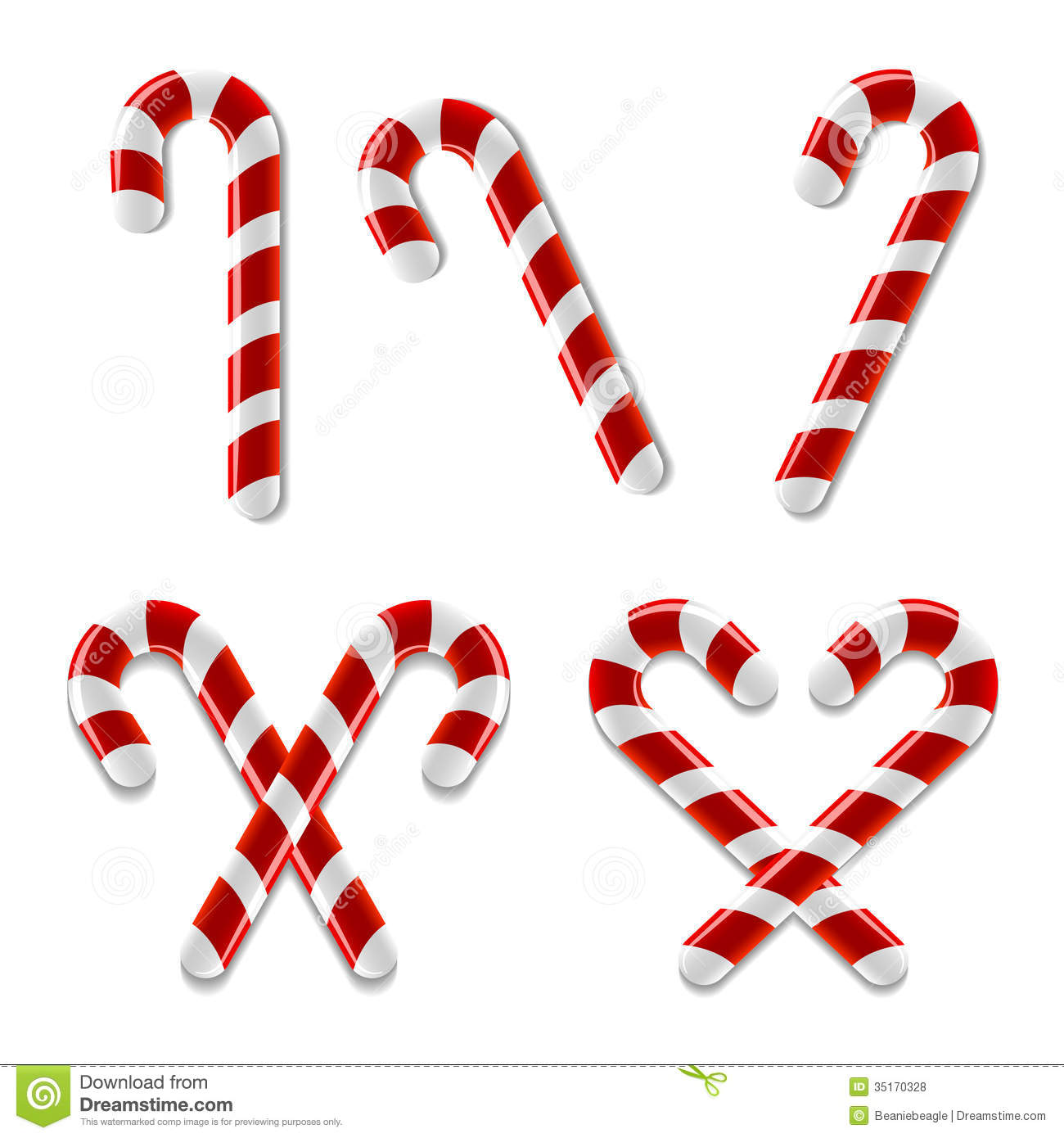 Candy Cane Icons Royalty Free Stock Photos - Image: 35170328
