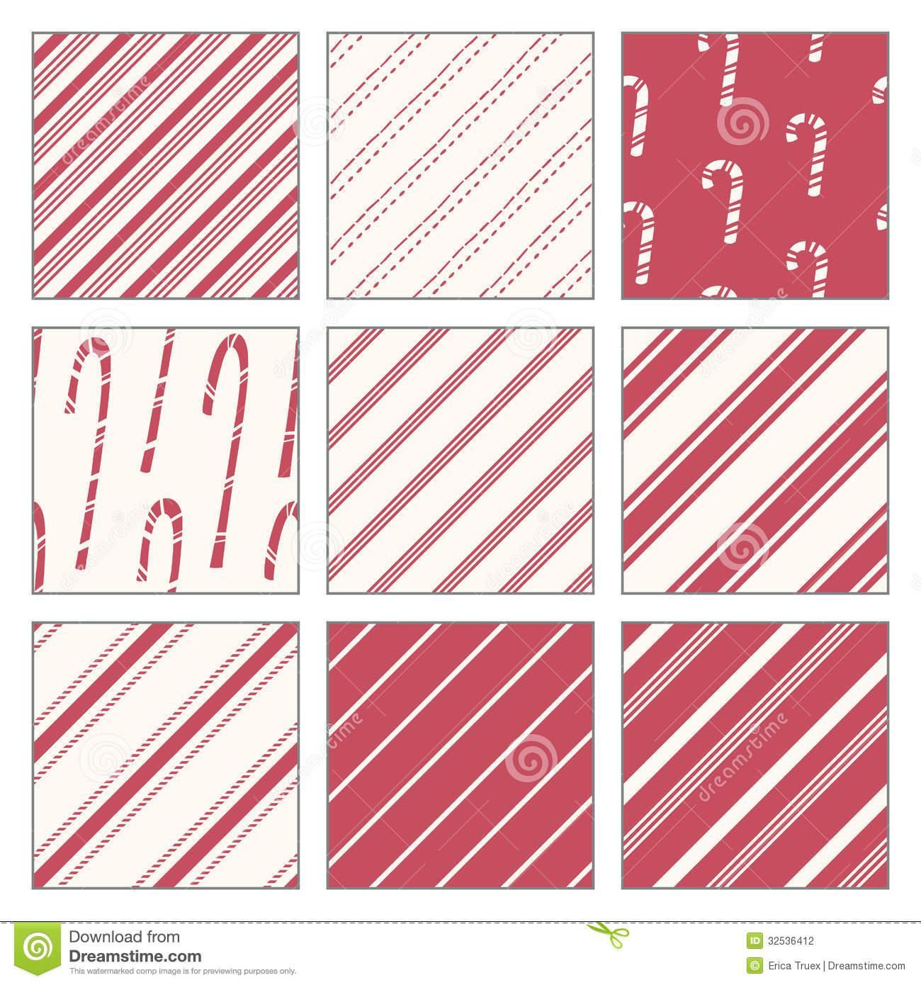 Candy Cane Pattern Candy cane patterns