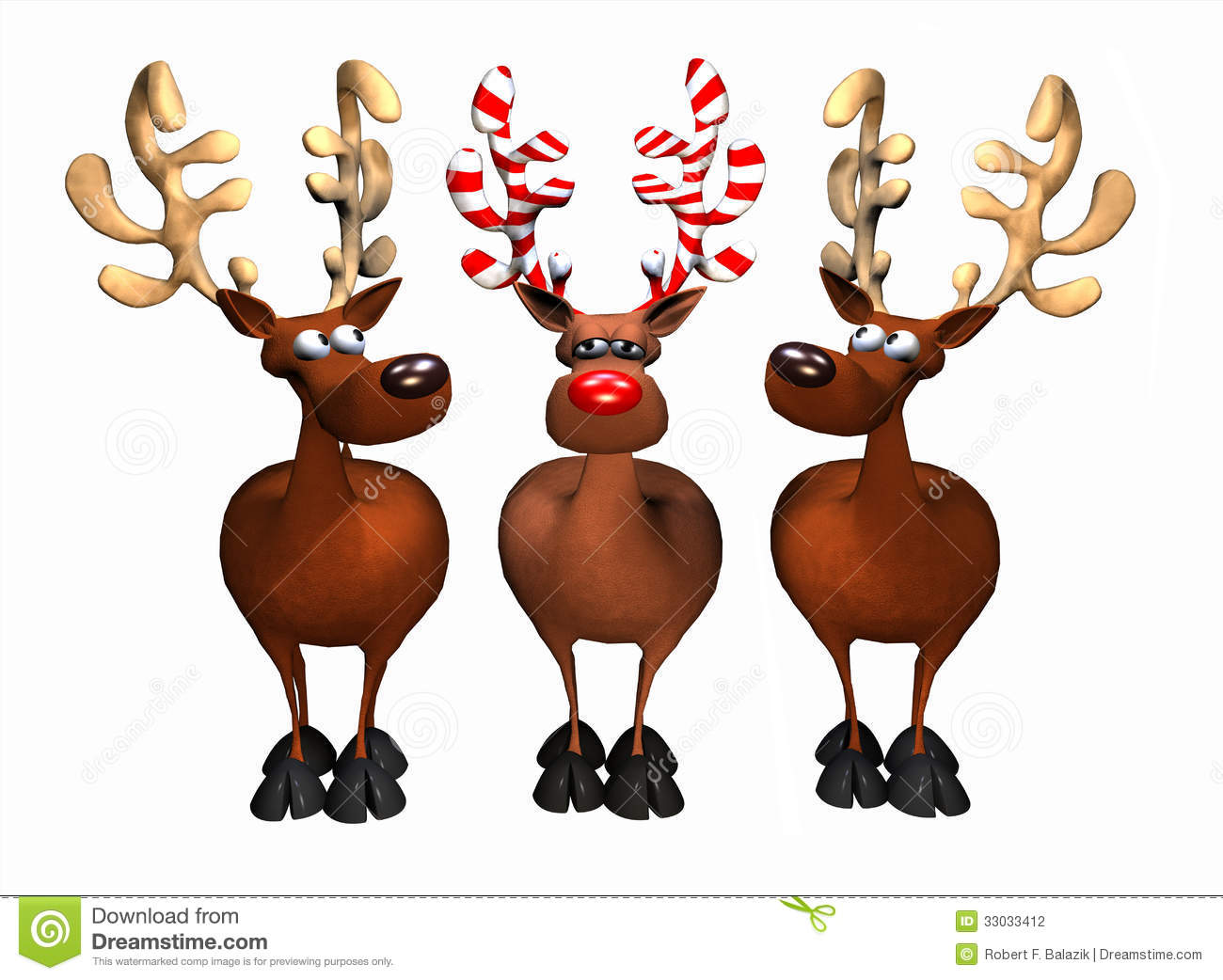 Candy Cane Reindeer stock illustration. Image of humor