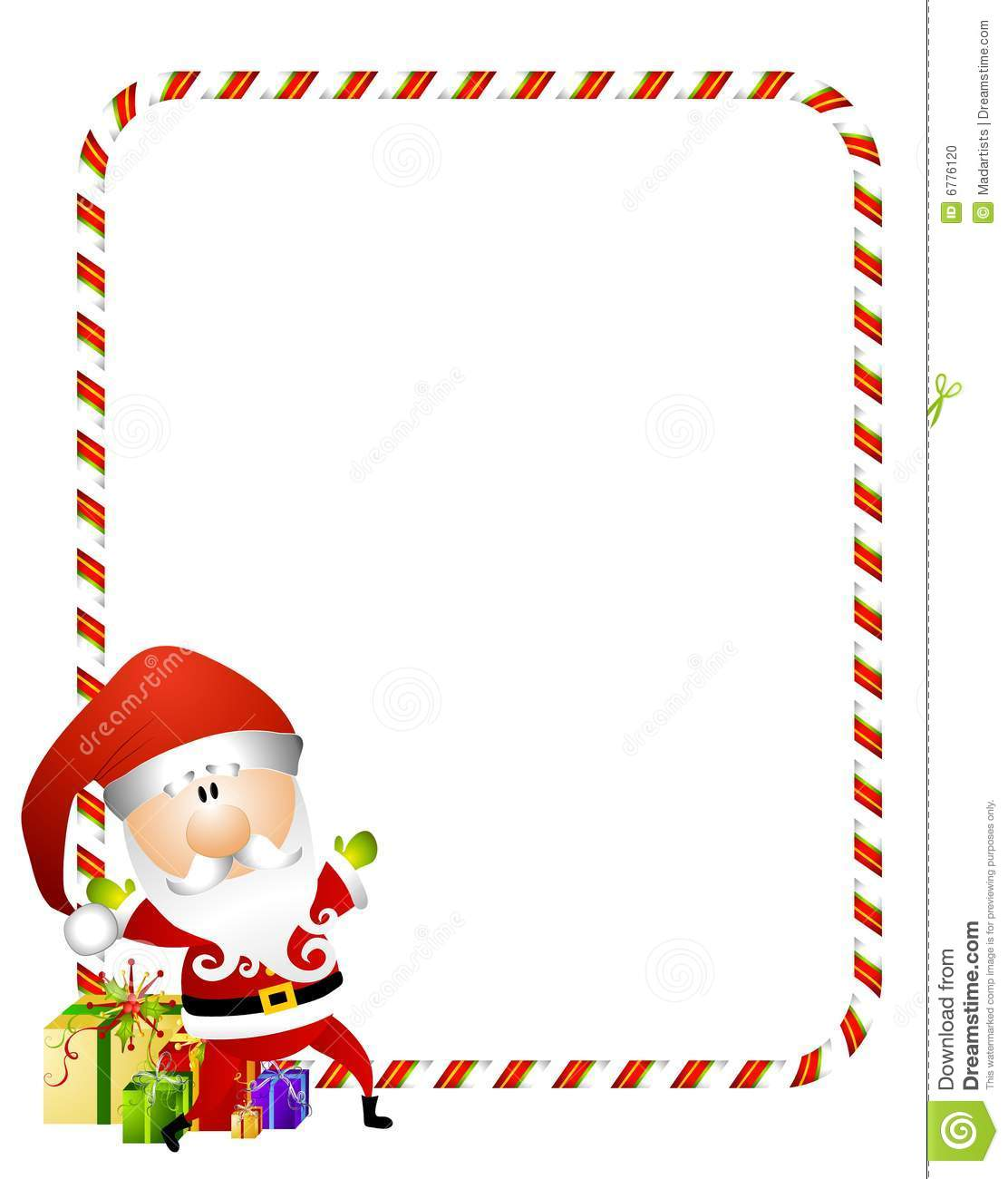 candy cane santa border stock illustration illustration of border rh dreamstime com christmas candy cane border clipart