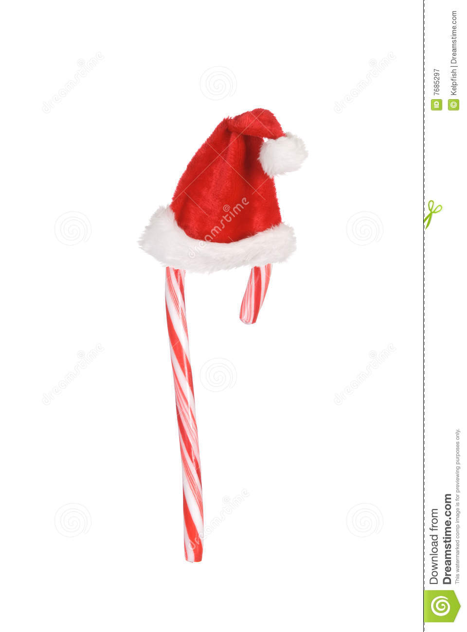 candy cane and santa hat stock image  image of nobody