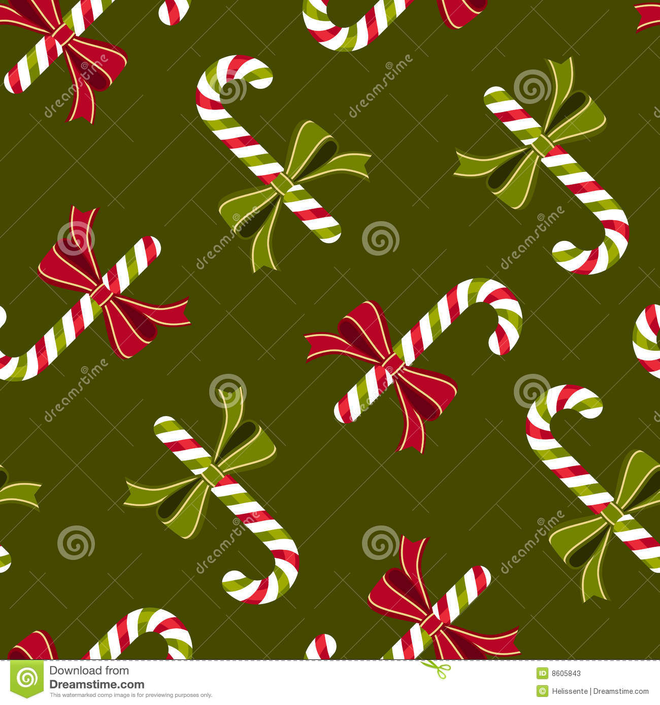 Candy Canes Wallpaper Pattern