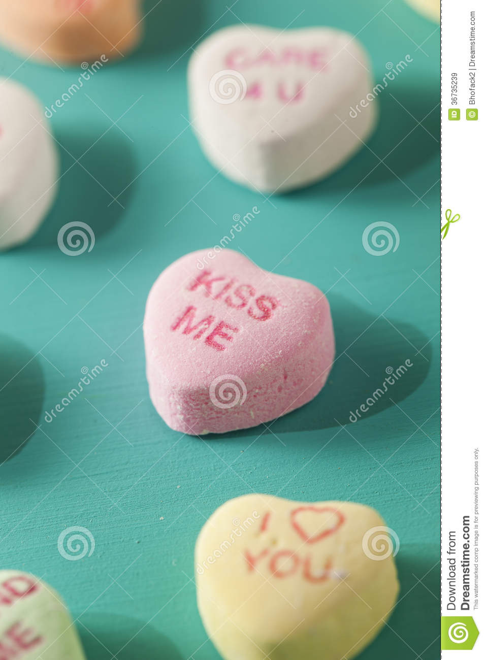 Candy Conversation Hearts for Valentine s Day