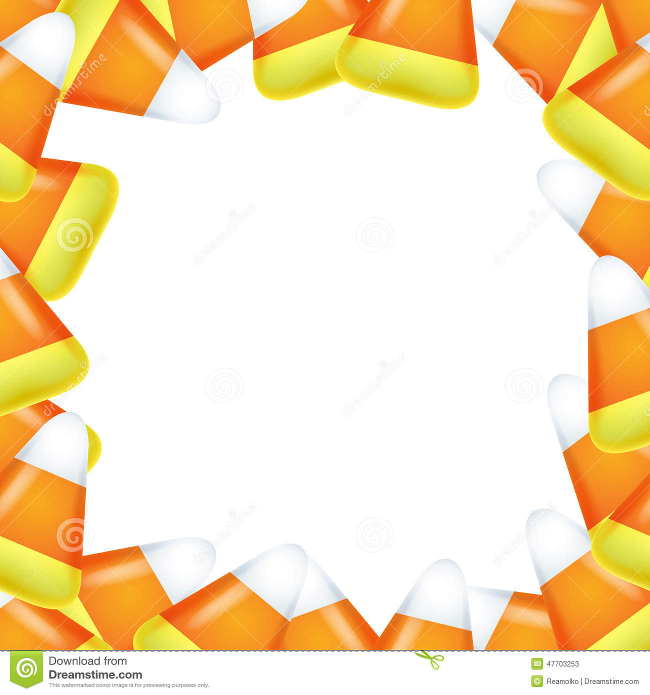 Candy Corn Frame. Stoc...