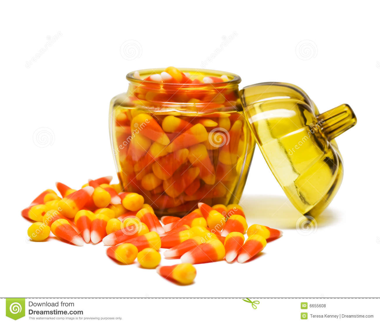 Candy Corn In Jar Royalty Free Stock Photos - Image: 6655608