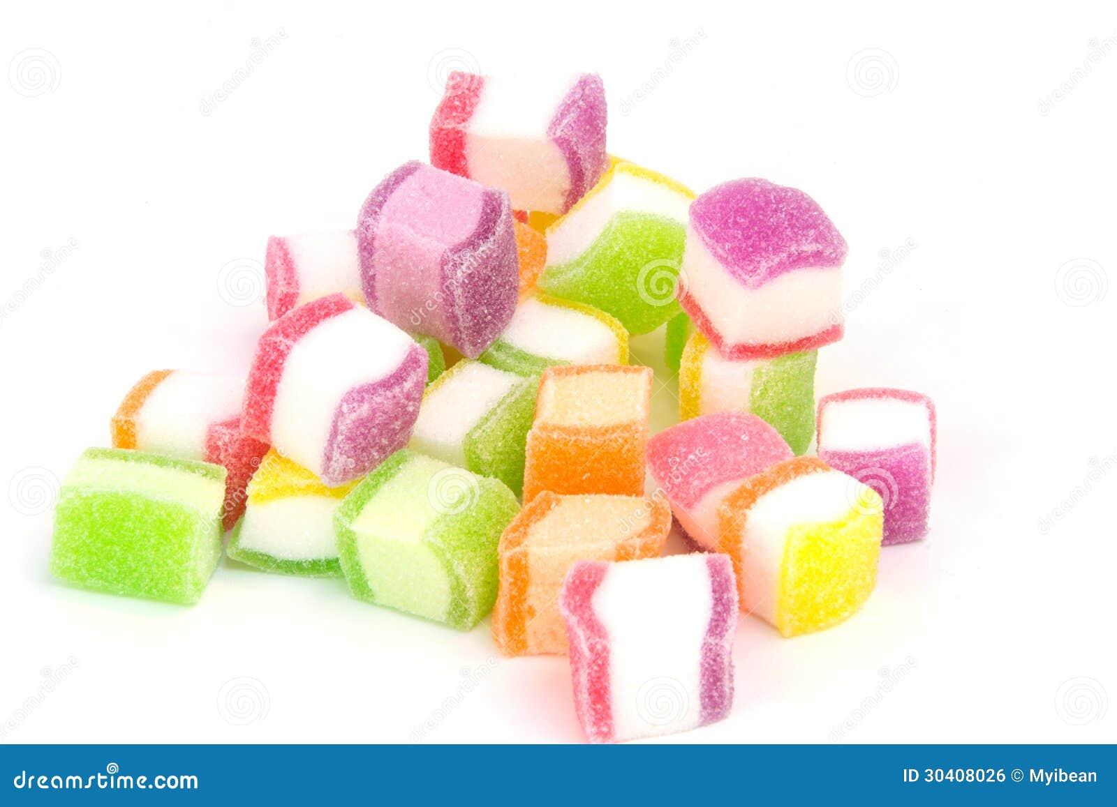 Candy, marshmallow with gelatin dessert