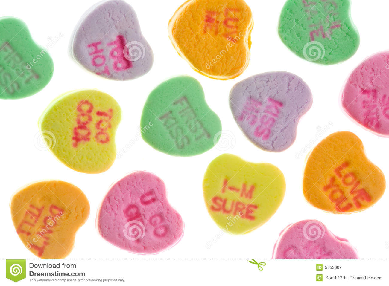 Candy Message Hearts Royalty Free Stock Images Image