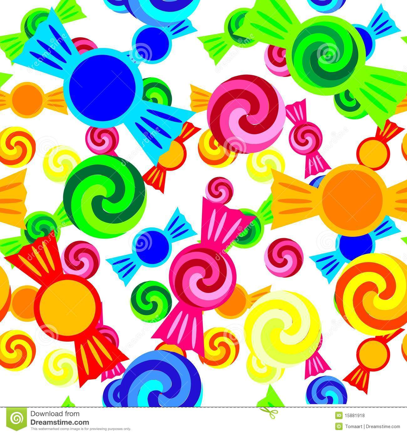 Candy Pattern Royalty Free Stock Photos - Image: 15881918