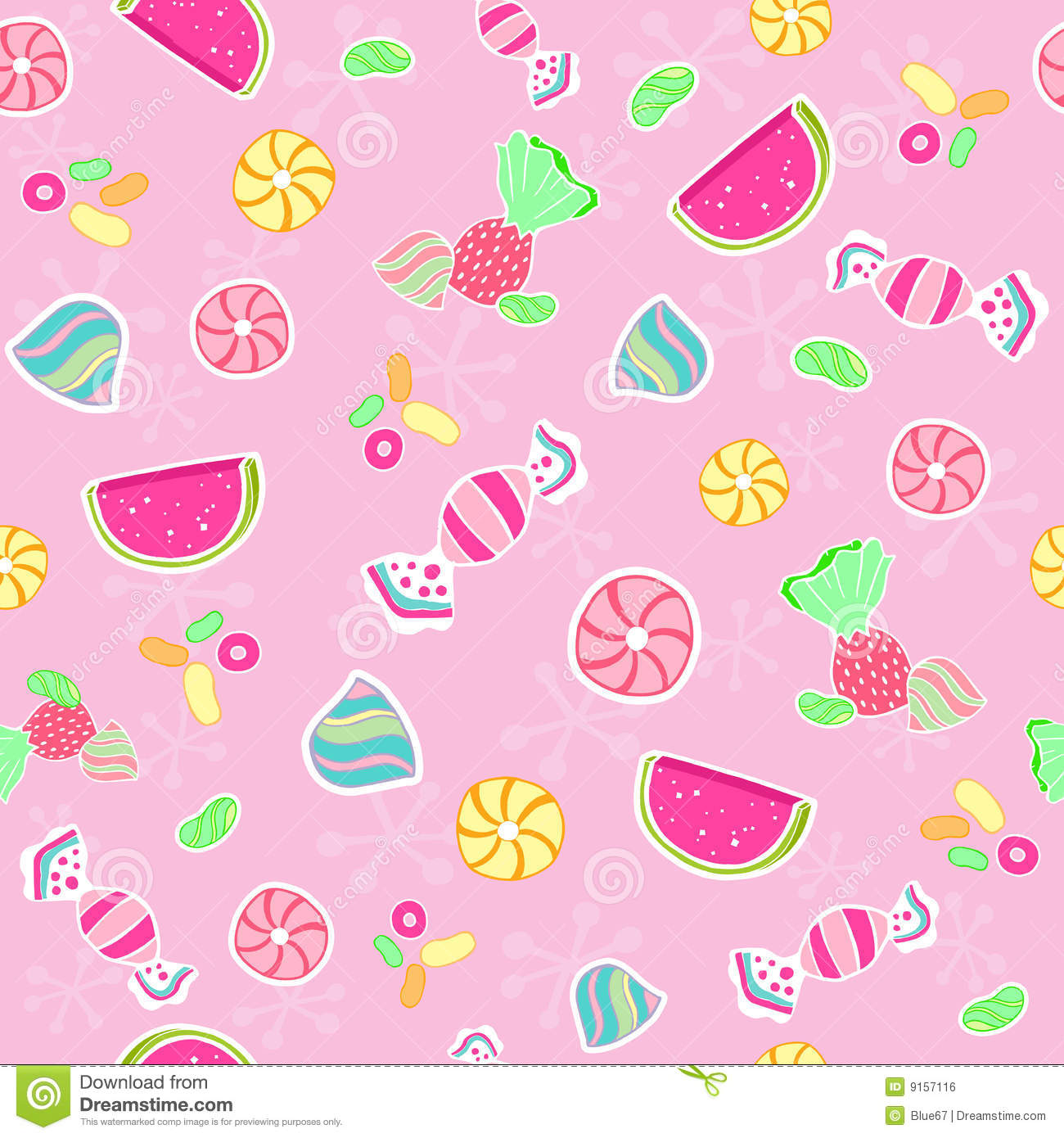 Candy Seamless Repeat Pattern Vector